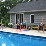 Hammock Poolside Yoga Event - Group Posing