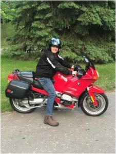 Jim Last on Motorcycle