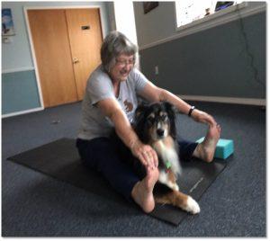 Kathy and Sammy at Yoga 2