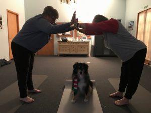 Kathy and Sammy at Yoga 3